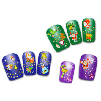 Jo.In 12Pcs Christmas Presents Santa Trees Design Nail Art Stickers Decals DIY Decoration