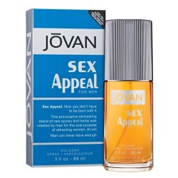 JOVAN Sex Appeal for Men Eau de Cologne Spray 88 ml / 3 fl oz (UPC: 035017009425)