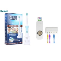 Kemei KM - 907 Waterproof Rechargeable Electric Toothbrush With 3 Replaceable Toothbrush Heads With Hands-