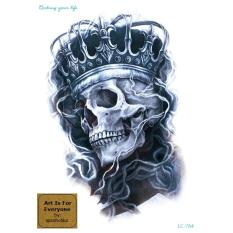 King Skull - Art Is For Everyone by:missholika Premium Quality 3D Temporary Tattoo (Half-Sleeve) LC-784 Philippines