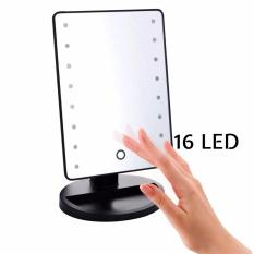 Kings 360 Degree Rotation Led Makeup Magic Mirror with Touch Screen 16 LED Lights (Black) Philippines