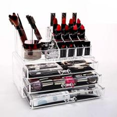 LOVE&HOME Acrylic Makeup Cosmetics Organizer 3 Drawers with Top Section Philippines