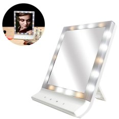 LED Makeup Cosmetic Mirror Multiple Illumination Large Screen Wall Mount Mirror with 18 LED Light - intl Philippines