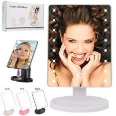 LED Makeup Vanity Mirror Touch Screen Cosmetic Mirror 16 LED Lights Vanity Make Up Mirror Battery and USB Powered Mirror Philippines