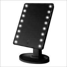 LED Touch Screen Makeup Mirror Portable 16 LEDs (Black) Philippines