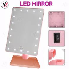 LED Vanity Makeup Mirror with Lights Table Lamp & Cosmetic Mirror (Pink) Philippines