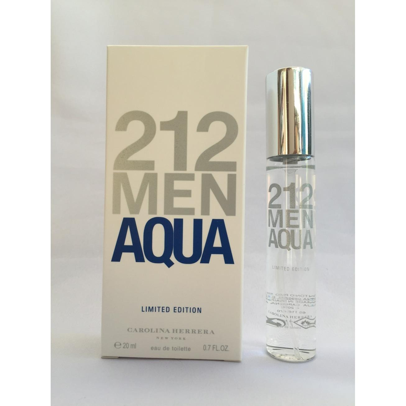 Limited Original 212 Men Aqua by Carolina Hererra EDT 20ml - Travel Size product preview, discount at cheapest price