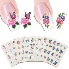 Linemart 50 Sheets/set 3D Design Nail Art Tips Decoration Print Water Transfer Nail Stickers Manicure Decals - intl Philippines