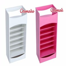 Lipstick Storage Tower Nail Polish Holder Makeup Organizer (White) Philippines