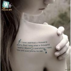 Love Quotes - TATTOO ART Temporary Tattoo 10x15 cm  HC-17 Philippines