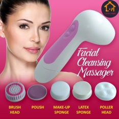 LOVE&HOME 6in1 Multifunction Electrical Facial Cleansing Brush Face Body Massager (Pink)