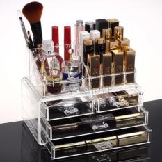 LOVE&HOME Acrylic Makeup Cosmetics Organizer 4 Drawers with Top Section Philippines