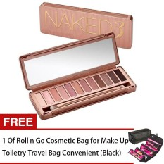 LOVE&HOME NK3 Makeup Eyeshadow Palette 12 Colors FREE Roll n Go Cosmetic Bag for MakeUp Toiletry Travel Bag (Black) Philippines