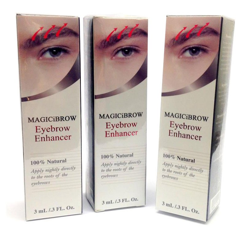 Magic iBrow Eyebrow Enhancer 100% Natural 3ml - Bundle of 3