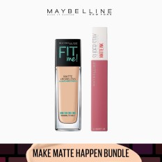 Make Matte Happen Bundle: Fit Me Liquid Foundation 128 + SuperStay Lover by Maybelline Philippines