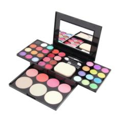 Make Up Palette Set Eyeshadow Lip Gloss Foundation Powder Blusher Puff Tool Philippines