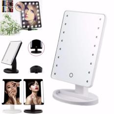 Make Up Vanity Illuminated Desktop Table Makeup Stand Large LED Mirror with 16 LED Light (white) Philippines