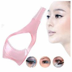 Makeup Eyelash Tool Upper Lower Lash Mascara Applicator Guide Eyelash Comb Cosmetic Tool (Pink) Philippines