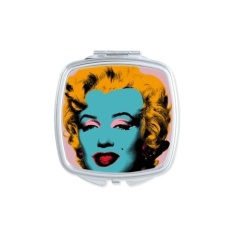 Marilyn Monroe Popular Pop Art Picture Neorealismo Andy Warhol Design Illustration Pattern Square Compact Makeup Pocket Mirror Portable Cute Small Hand Mirrors - intl Philippines