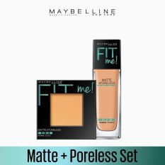 Maybelline Fit Me Foundation 230 Nat Buff + Fit Me Powder 230 Nat Buff [EXCLUSIVE BUNDLE] Philippines