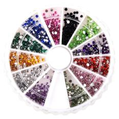 MBox 2400 1mm & 2mm Round Nail Art Rhinestone Wheel Kit - Intl Philippines