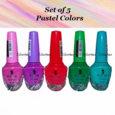 Set of 5 Meiya Nail Polish PASTEL Neon Colors CANDY COLLECTION Nail Art Philippines
