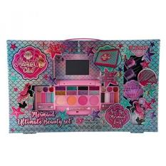 Mermaid Club- Kids Makeup Kit - Designer Girls Makeup Palette for Kids - Packed In a Cute Colorful Vanity w/ Mirror- Non-Toxic and Washable (Mermaid Makeup) - intl Philippines