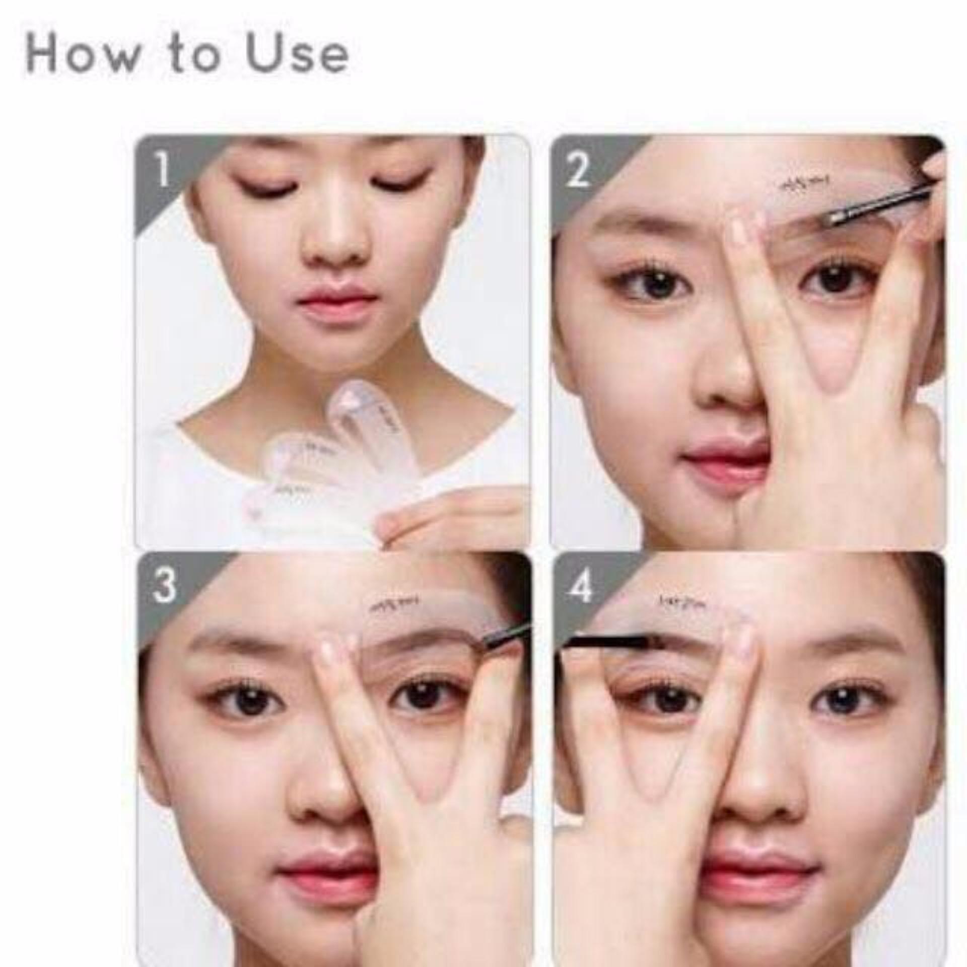 Mini Brow Class Eyebrow Stencil Drawing Guide Lazada Ph