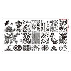 Nail Art Stamping  Plate High Quality Stainless Steel Deep Engraved Stencil Designs (12 x 6 cm) BC13 Philippines