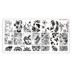 Nail Art Stamping  Plate High Quality Stainless Steel Deep Engraved Stencil Designs (12 x 6 cm) BC16 Philippines