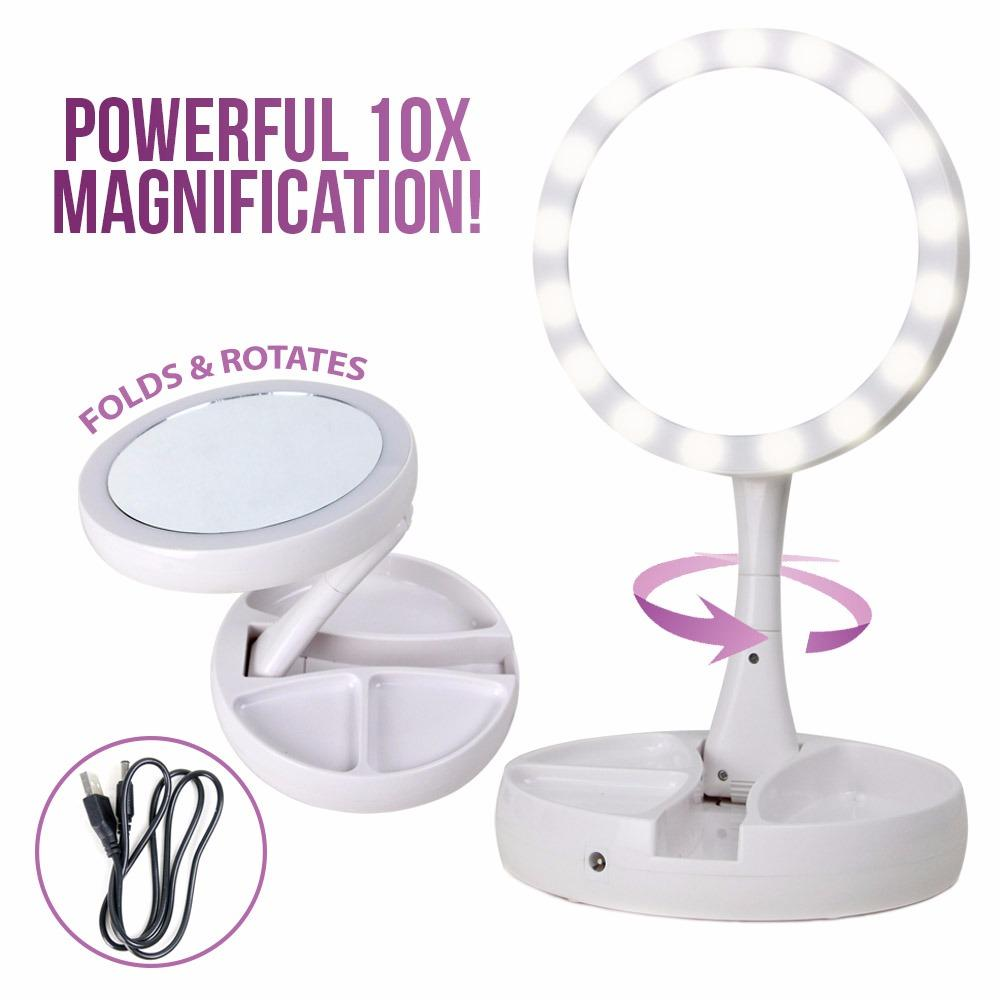 My Fold Away LED Mirror (White) Philippines