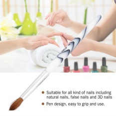 Nail Art Brush White Acrylic Handle Synthetic Hair Art Pen Manicure Tools - intl Philippines