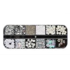 Nail Sequins Rhinestones Hollow Acrylic Nail Art Decoration Long Design - intl Philippines