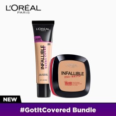 #NeverFail Set: Infallible Total Cover Liquid Foundation - 302 Creamy Natural [#GotItCovered 24HR Full Coverage] and Infallible Pro-Matte Pressed Powder - 200 Natural Beige by LOréal Paris [EXCLUSIVE BUNDLE] Philippines