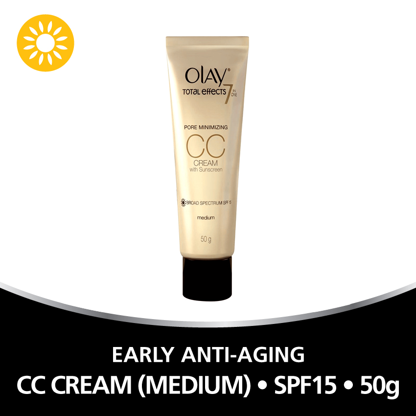Olay Total Effects 7-in-1 Pore Minimizing CC Cream with SPF 15 50g (Medium) - thumbnail