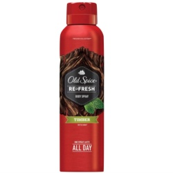 Old Spice Refresh Timber 106 grams Body Spray with FREE Flawless Papaya Soap