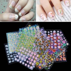 PAlight 30 pcs Floral Art Nail Tips Stickers Decals 3D Flowers Beauty - intl Philippines