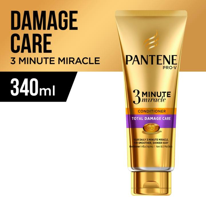 Pantene 3 Minute Miracle Intensive Total Damage Care Conditioner 340ml