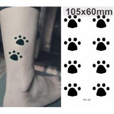 Paws - TATTOO ART Temporary Tattoo 10x15 cm  HC-28 Philippines