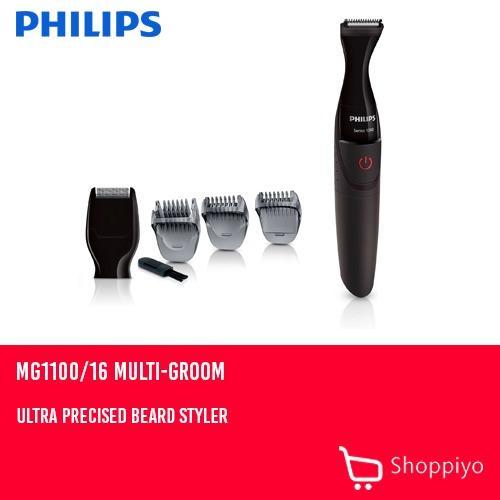 Philips MG1100 16 Multi-Groom Ultra Precise Beard Styler Series 1000 (Black) 05d7ac8396