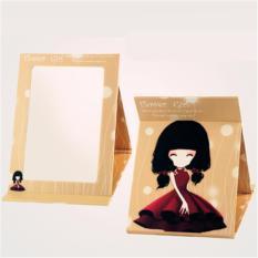 Phoebes Korean Foldable portable desktop mirror (Light Coffee Girl) Philippines