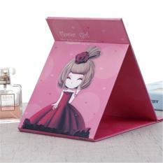 Phoebes Korean Foldable portable desktop mirror (Red Flower Girl) Philippines