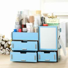 Phoebes multi purpose Wooden DIY Make Up cosmetics accessories storage desktop organizer Box with tissue holder with FREE cp stand holder Philippines