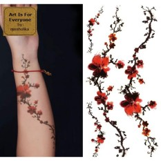 Plum Flowers - Art Is For Everyone! by:missholika Premium Quality 3D Temporary Tattoos QC-659 Philippines