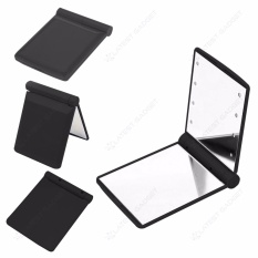 Pocket Makeup Mirror With LED Light (Black) Philippines