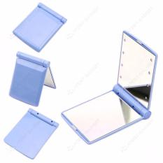 Pocket Makeup Mirror With LED Light (Blue) Philippines