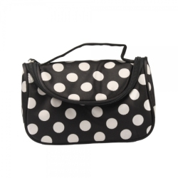 Polka Dots Makeup Cosmetic Tote Bag with Mirror (Intl)