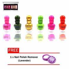 Pop Art Scarlet Glossy Nail Polish Set of 6 (#091-A) Philippines