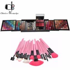 Pro 177 Color Eyeshadow Palette Blush Lip Gloss Beauty Makeup Cosmetic Set Kit with 24pcs Brush Pink Philippines