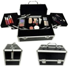 Professional Makeup Storage Case Box Jewelry Aluminum Makeup Case (Black Crocodile Grain) Philippines